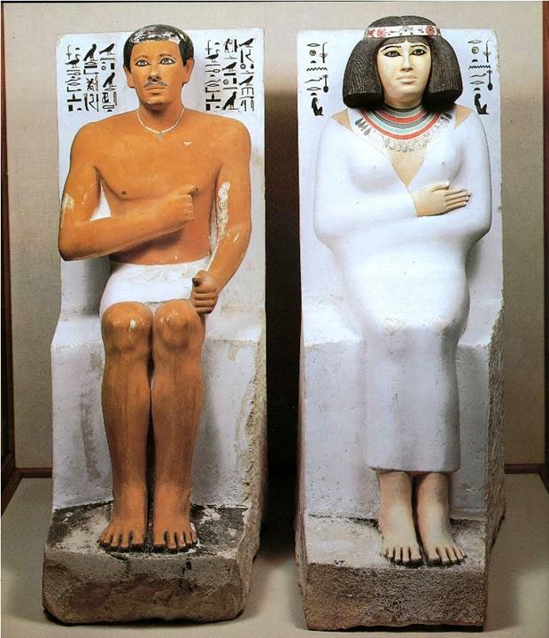 سر تمثال رع حتب وزوجته نفرت