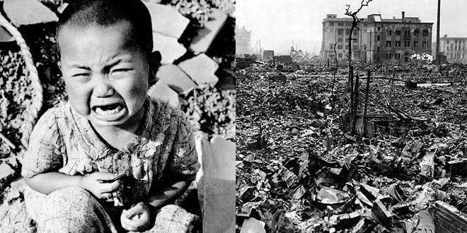 لحظة المأساة ( لحظة القاء قنبلة هيروشيما النووية ) :