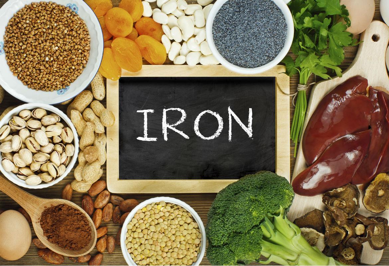 الأطعمة منخفضة الحديد