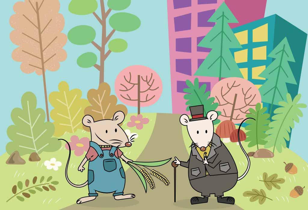 سرد قصة فأر المدينة وفأر الريف