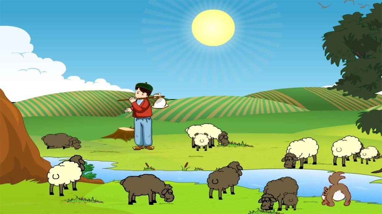 قصة الراعي والذئب بالصور