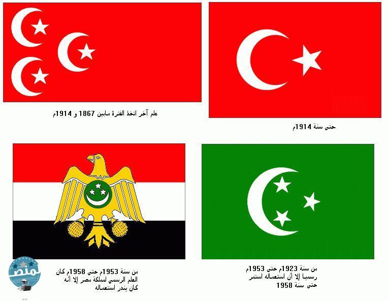 علم مصر في عهد الأسرة العلوية